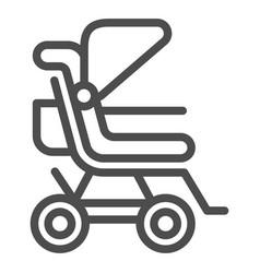 Stroller line icon bapushchair vector