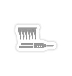 Stylish paper sticker on white background hair vector