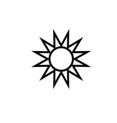 sun summer icon vector image