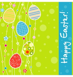 template easter greeting card vector image vector image