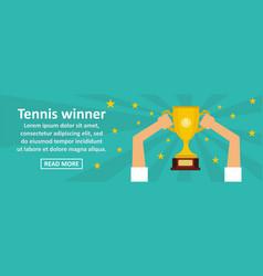 tennis winner banner horizontal concept vector image