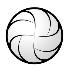 Volleyball abstract silhouette vector