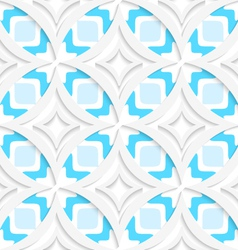 White pointy rhombuses with blue flat seamless vector