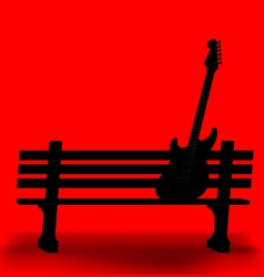 Bench Guitar 1 vector image