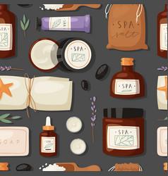 cosmetics spa branding pack mockup natural body vector image