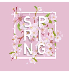 Floral Spring Graphic Design - for t-shirt fashion vector image vector image