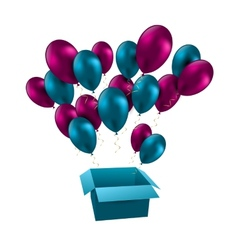for happy birthday balloons vector image vector image