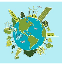 Green world renewable resources vector image