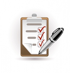 pen and note vector image vector image