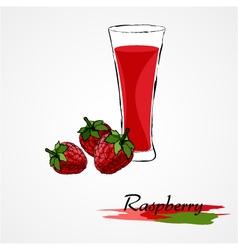 raspberry juice vector image vector image
