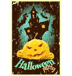 Retro Style Halloween Poster vector image vector image