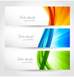 Set of banners with rays vector image