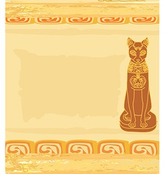 Stylized Egyptian cat vector image