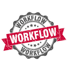 workflow stamp sign seal vector image