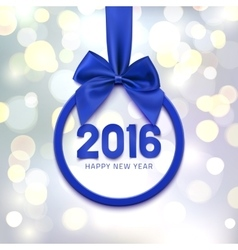 Happy New Year 2016 round banner vector image vector image