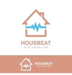 pulsating house logo vector image