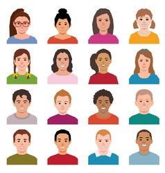 Set of avatars children in a flat style icons vector image vector image
