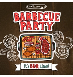 Bbq Grill Party Poster vector image