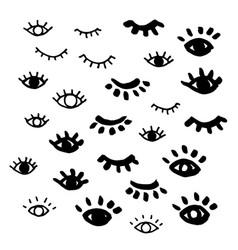 eyes isolated closed eye vector image
