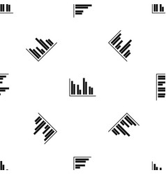 financial analysis chart pattern seamless black vector image vector image