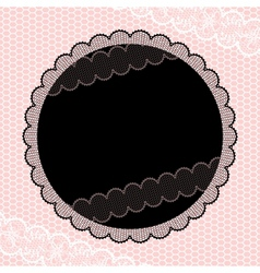 Vintage ornamental flowers seal vector image vector image