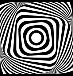 abstract op art design vector image vector image