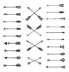Arrow clipart white background aztec arrows vector image vector image