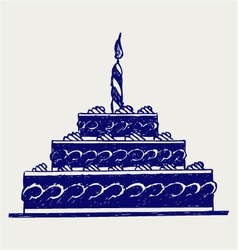 Cute cake vector image vector image