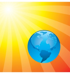 earth and the rising sun vector image