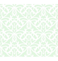 Elaborate white vintage seamless pattern on green vector image vector image