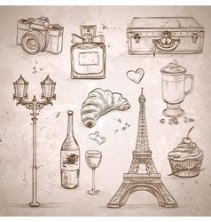 elements of Paris vector image