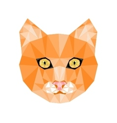 Geometric Cat Head vector image vector image