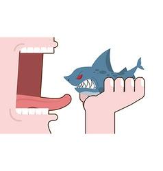 Man eating shark Destruction of marine predator vector image vector image