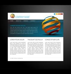 modern website vector image vector image