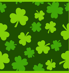 Seamless saint patrick s day pattern with green vector