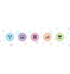 5 data icons vector