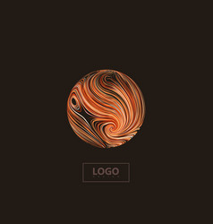 Abstract 3d orange sphere textured with swirled vector