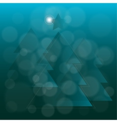 Abstract translucent blue Christmas tree vector