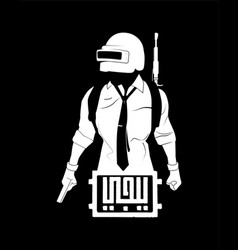 arabic calligraphy translation letters pubg vector image