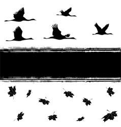 autumnal cranes vector image