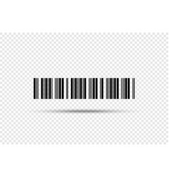 barcode - icon bar code on transparent background vector image