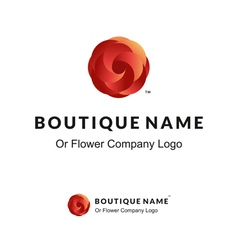 Beautiful Logo with Red Flower for Boutique or vector