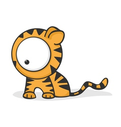 big eyed tiger vector image