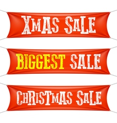 Biggest Christmas sale banners vector