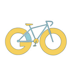 bike icon go for a ride adventure concept vector image
