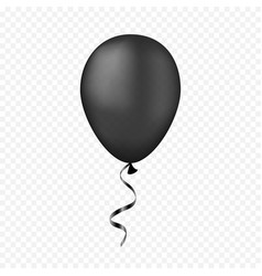 Black balloon on a transparent background vector