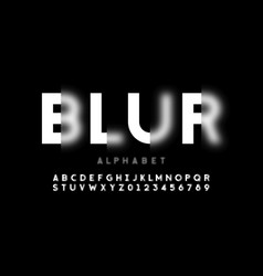 blurry style font design alphabet letters and vector image
