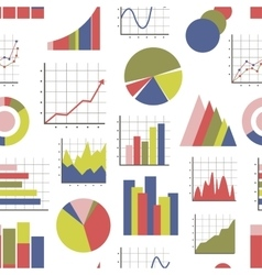 Business Infographic icons pattern vector image