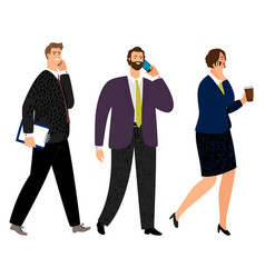 business people with phones vector image