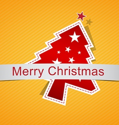 christmas background label vector image